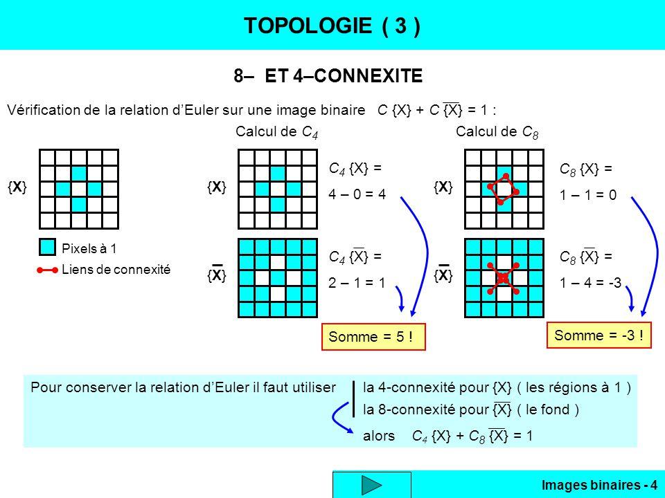 TOPOLOGIE ( 3 ) 8– ET 4–CONNEXITE