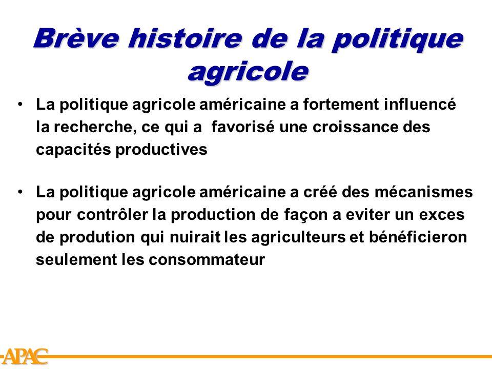 Brève histoire de la politique agricole
