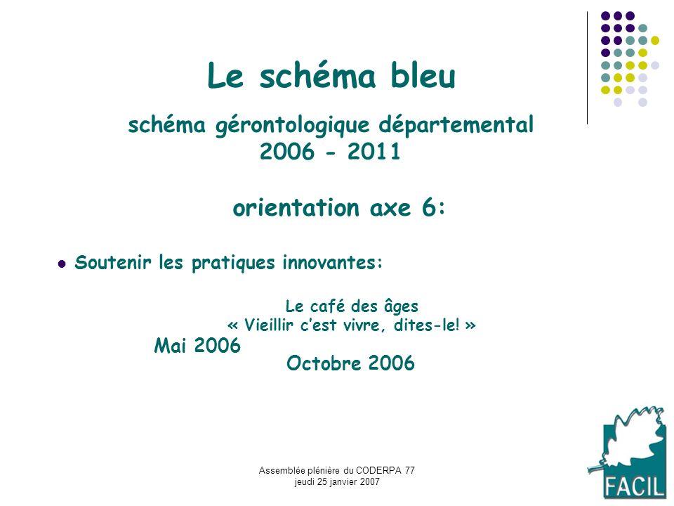 Le schéma bleu schéma gérontologique départemental 2006 - 2011