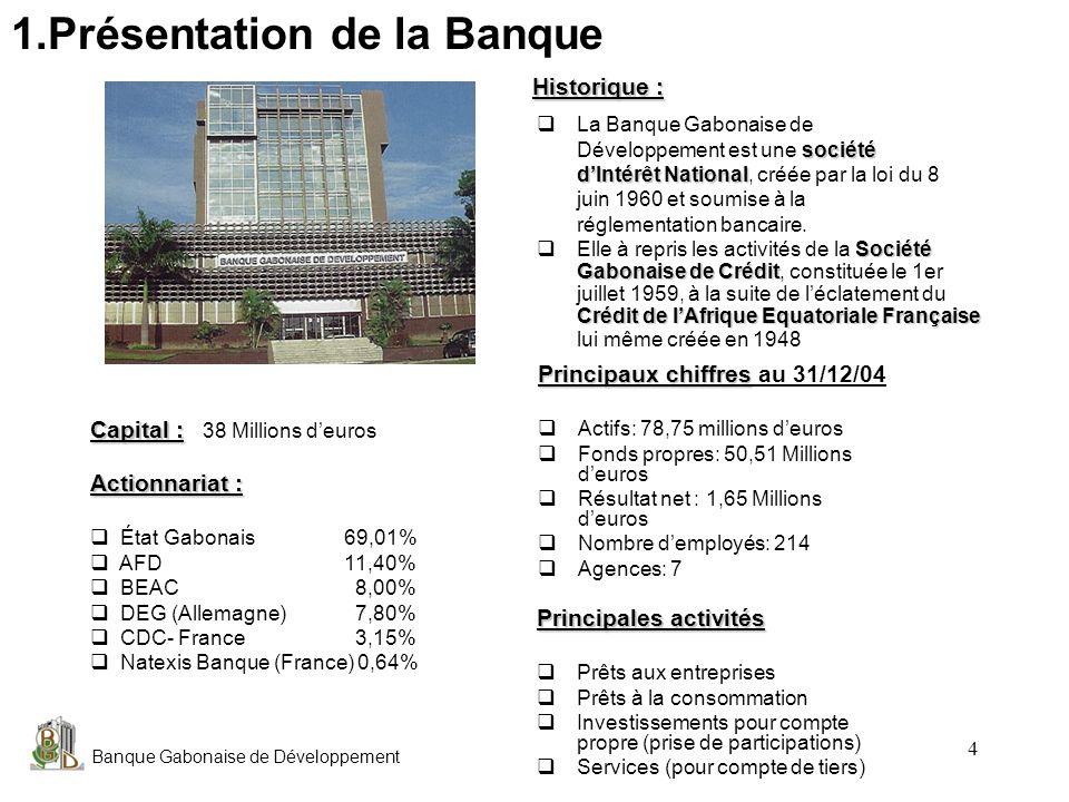 1.Présentation de la Banque