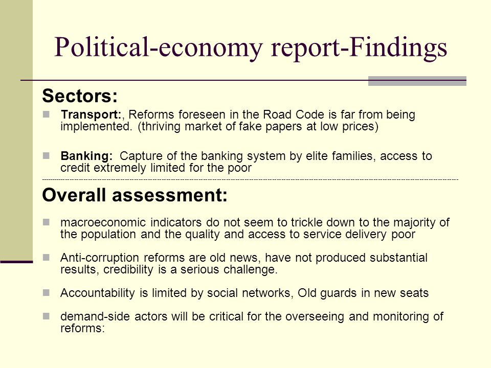 Political-economy report-Findings