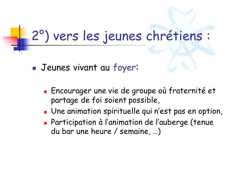 2°) vers les jeunes chrétiens :