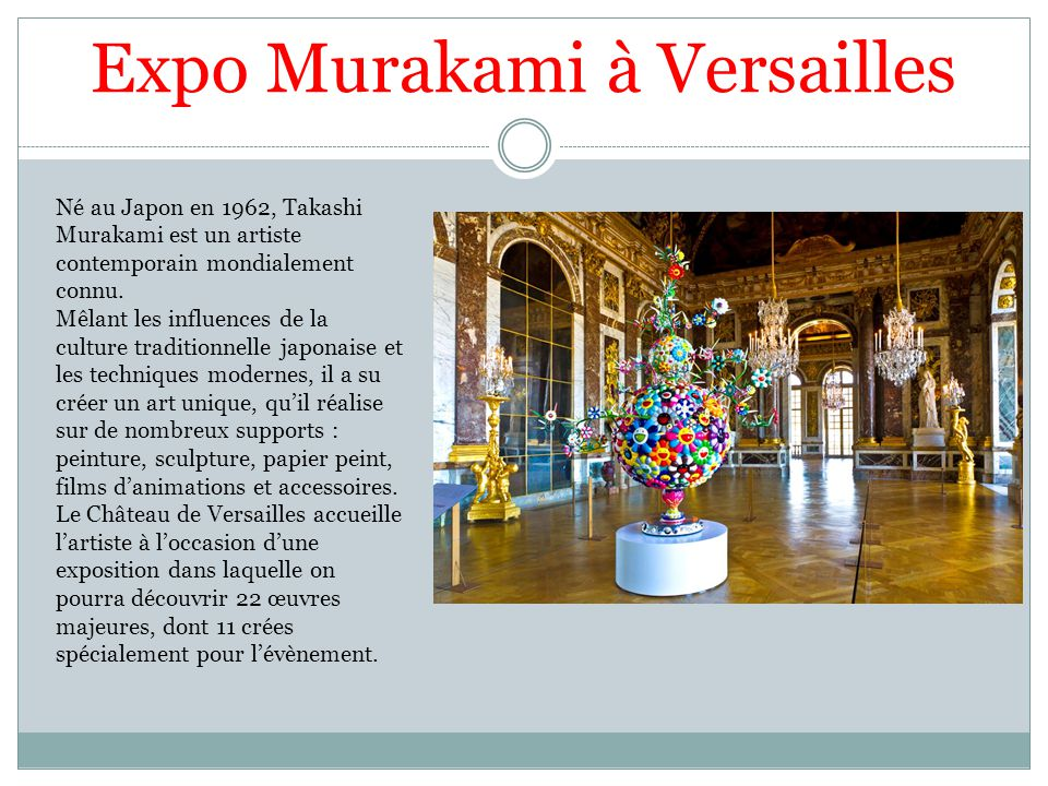 Expo Murakami à Versailles