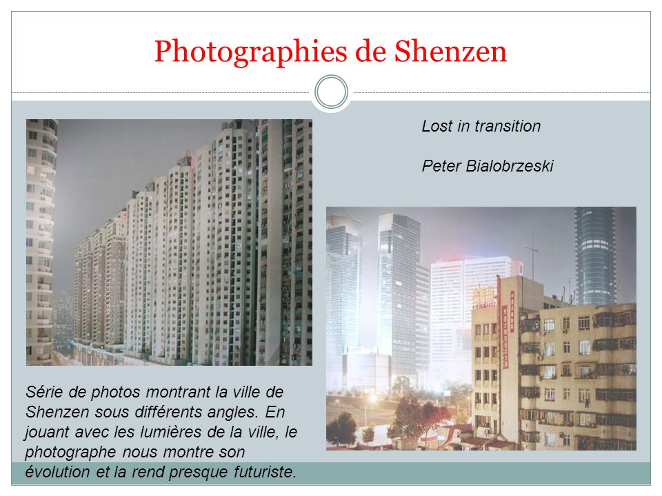 Photographies de Shenzen