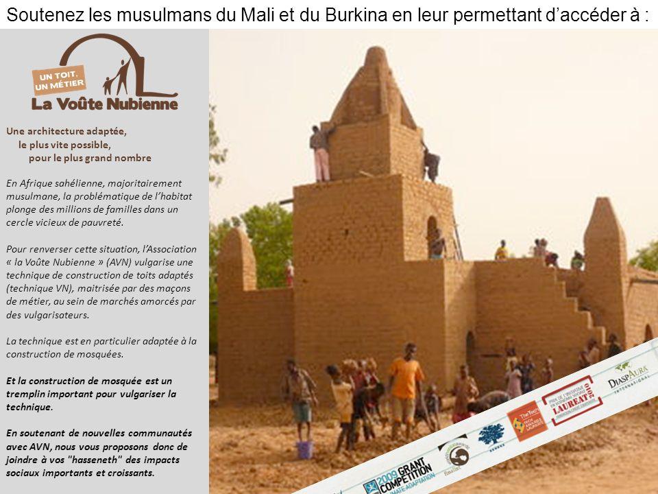Soutenez les musulmans du Mali et du Burkina en leur permettant d'accéder à :
