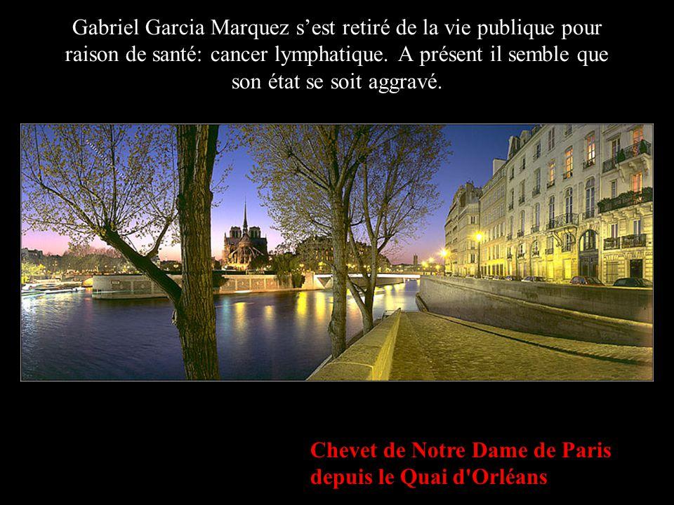 Gabriel Garcia Marquez s'est retiré de la vie publique pour raison de santé: cancer lymphatique. A présent il semble que son état se soit aggravé.