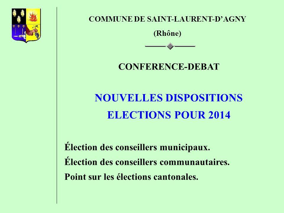 NOUVELLES DISPOSITIONS ELECTIONS POUR 2014
