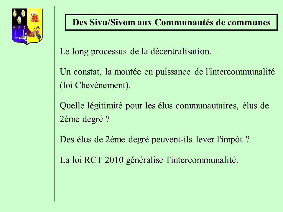 Des Sivu/Sivom aux Communautés de communes