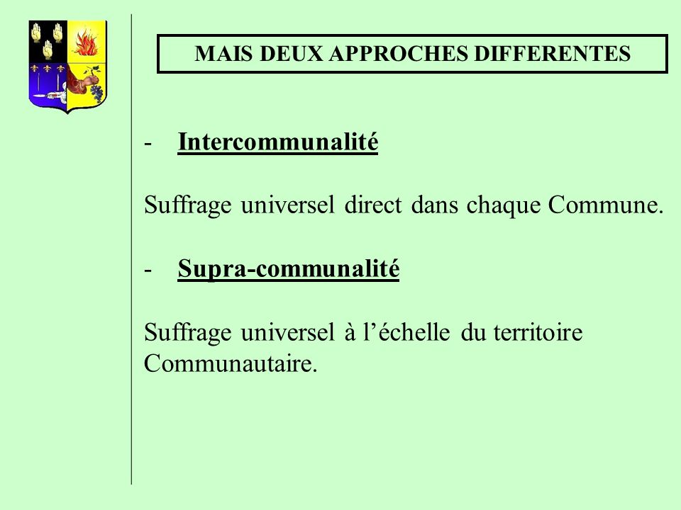 MAIS DEUX APPROCHES DIFFERENTES