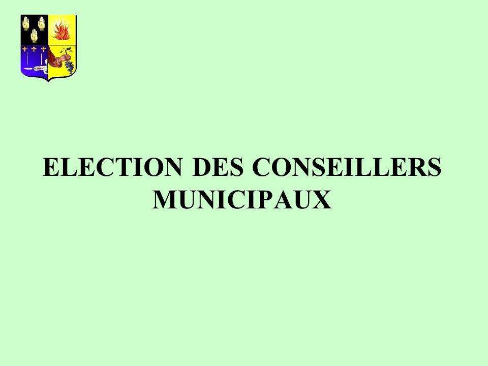 ELECTION DES CONSEILLERS MUNICIPAUX