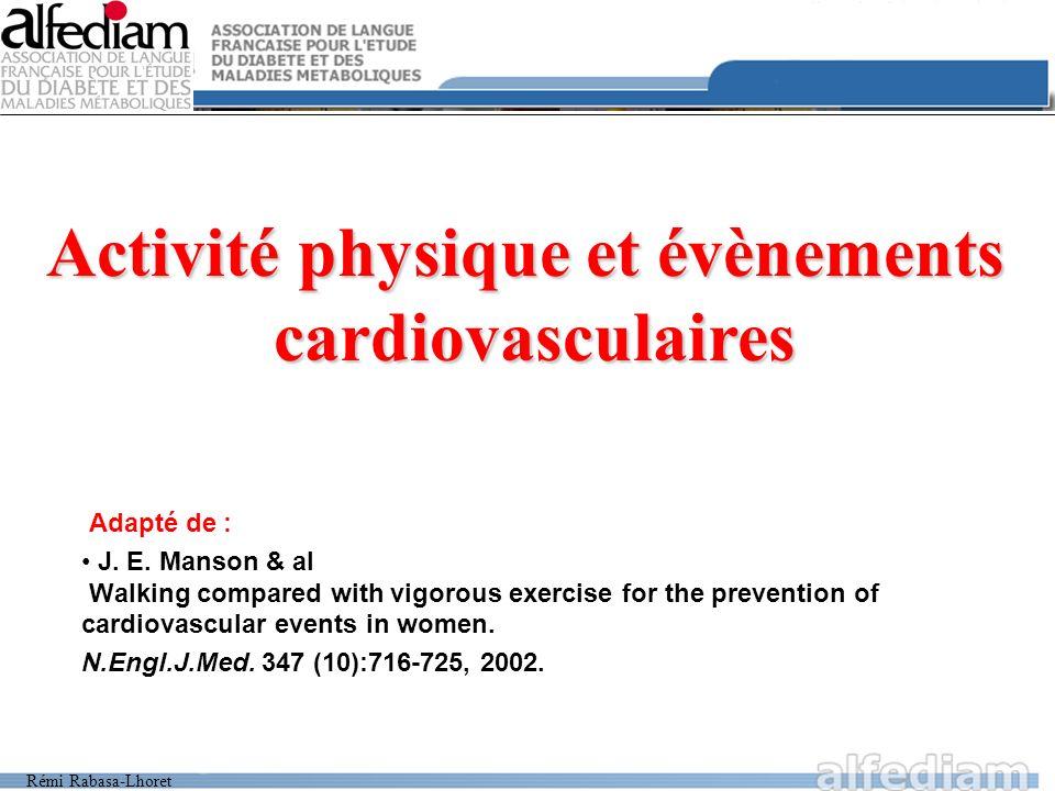 Activité physique et évènements
