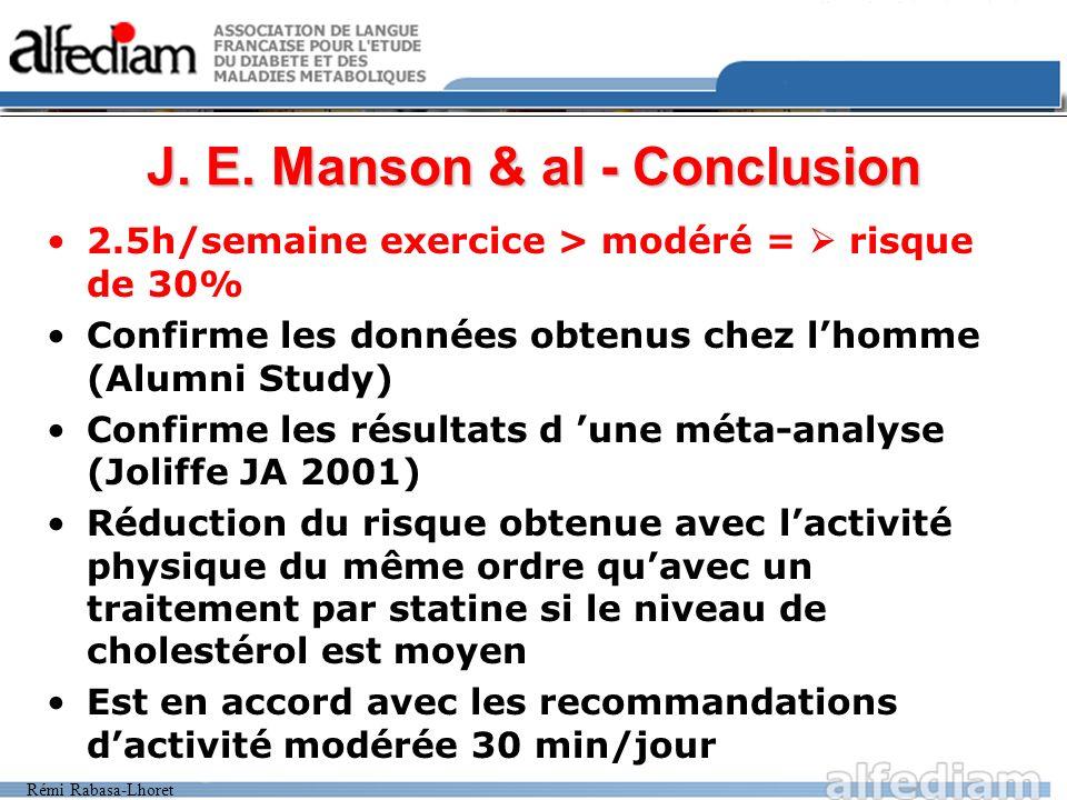 J. E. Manson & al - Conclusion