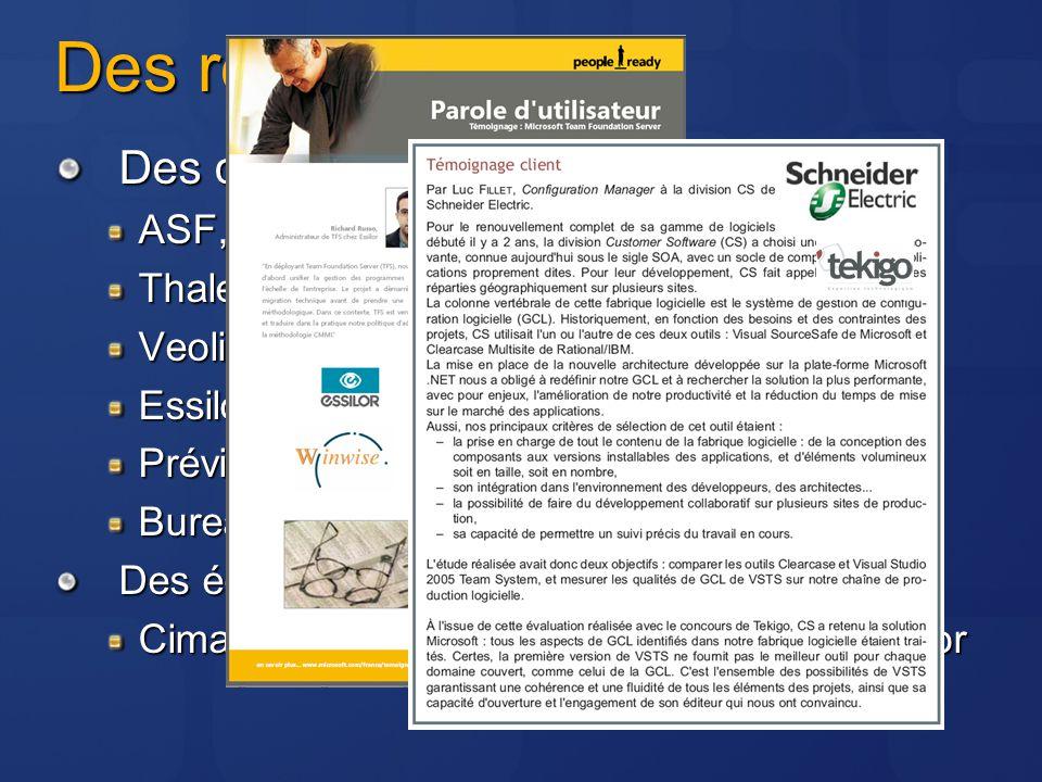 Des références Des clients : ASF, Fnac.com, CDiscount