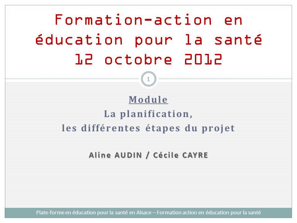 Formation-action en éducation pour la santé 12 octobre 2012