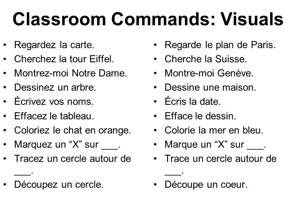Classroom Commands: Visuals