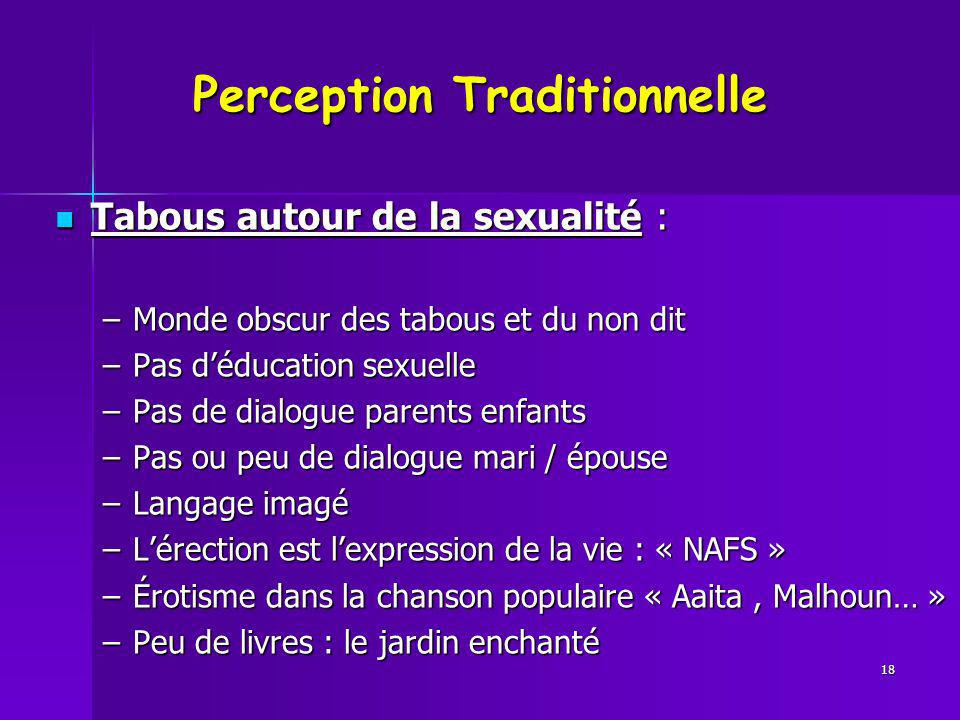 Perception Traditionnelle