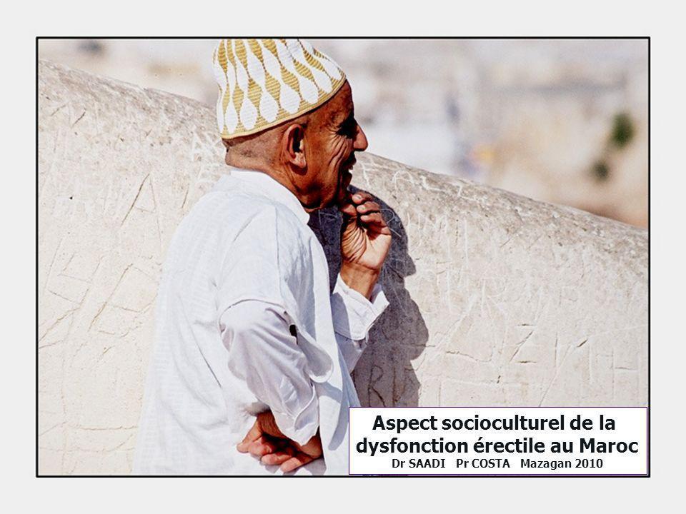 Aspect socioculturel de la dysfonction érectile au Maroc