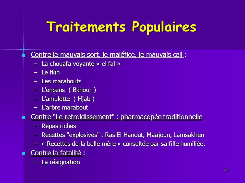 Traitements Populaires