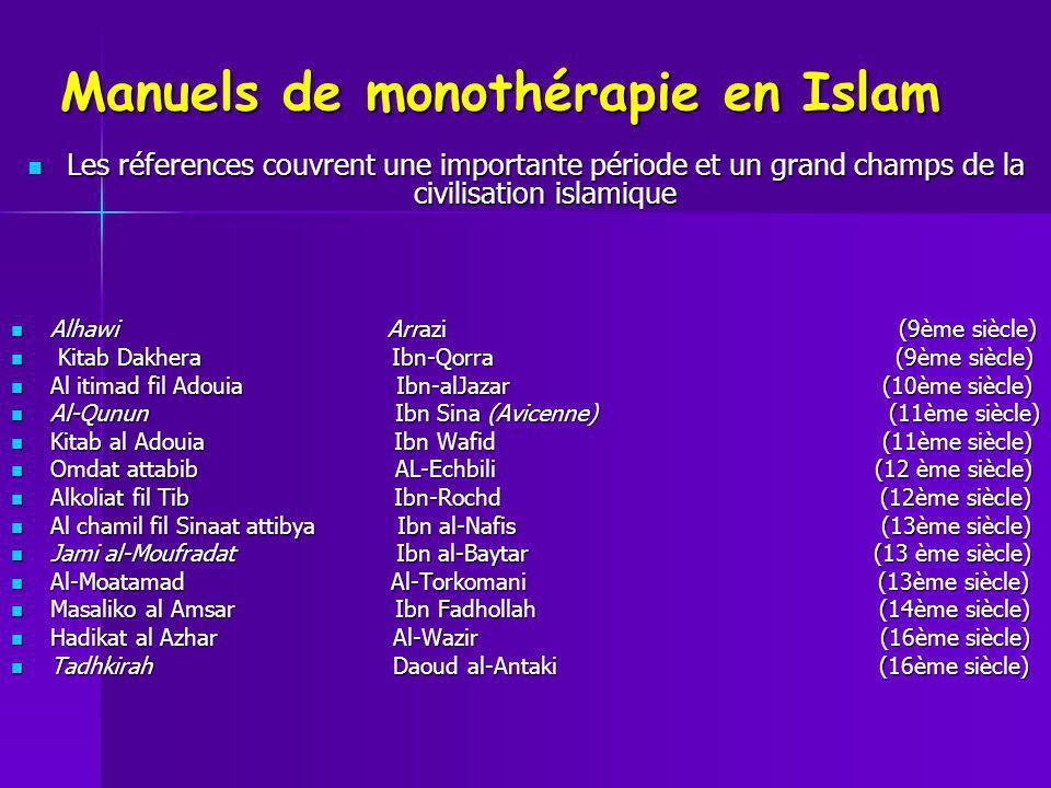 Manuels de monothérapie en Islam