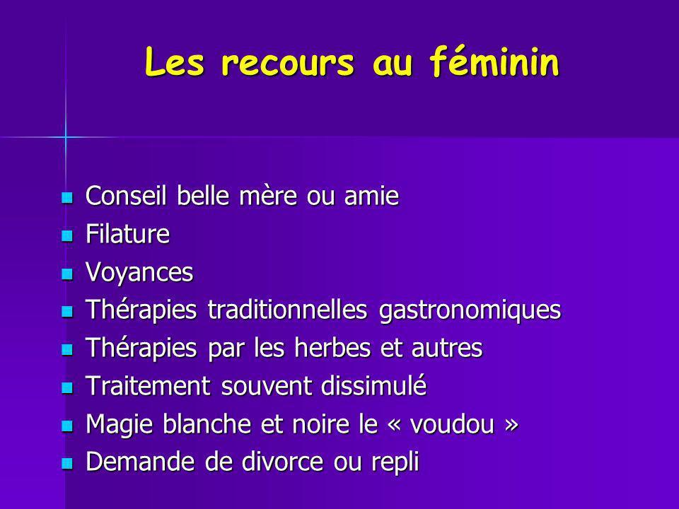 Les recours au féminin Conseil belle mère ou amie Filature Voyances