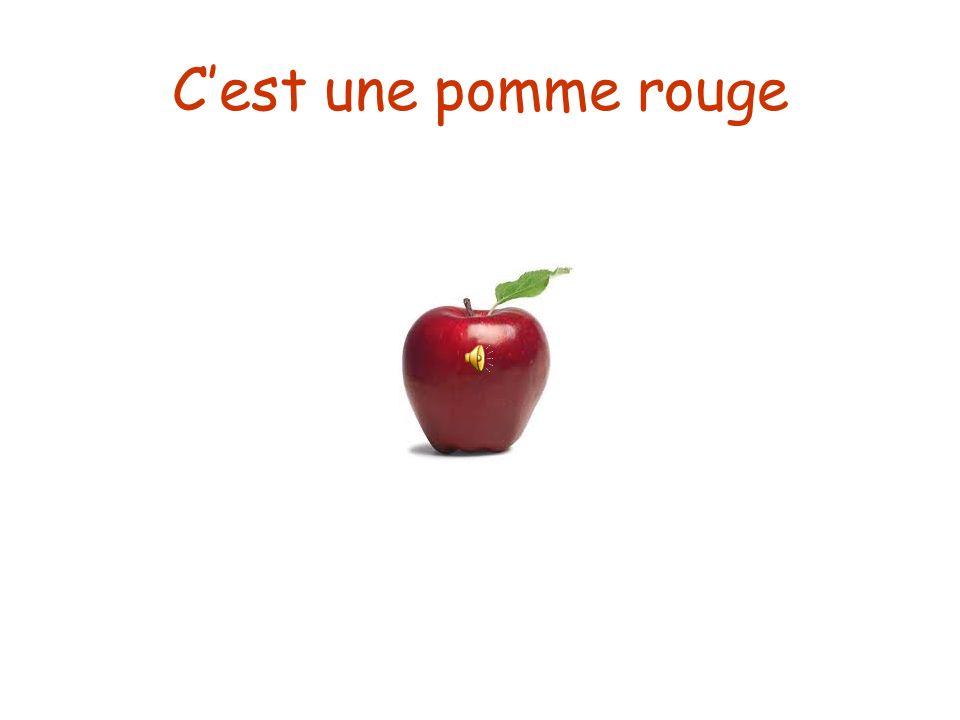 C'est une pomme rouge