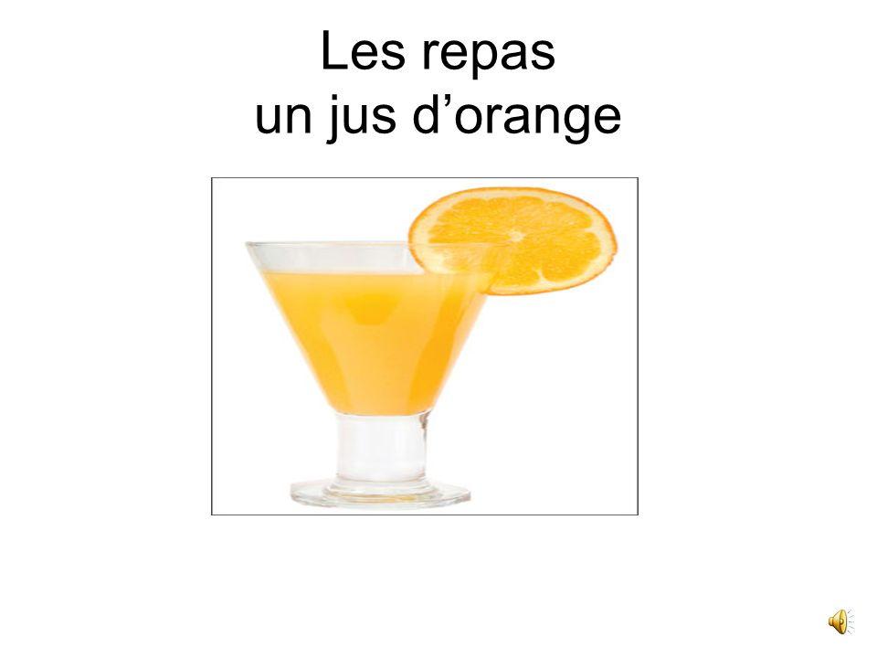 Les repas un jus d'orange