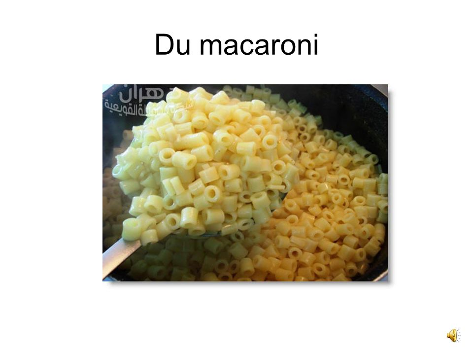 Du macaroni