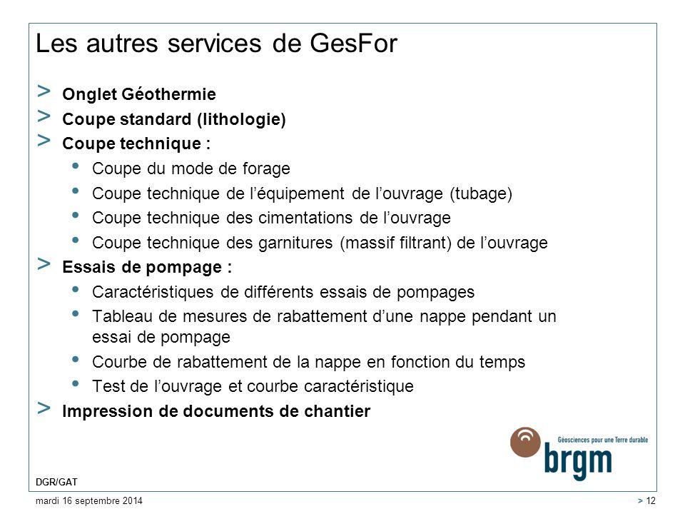 Les autres services de GesFor