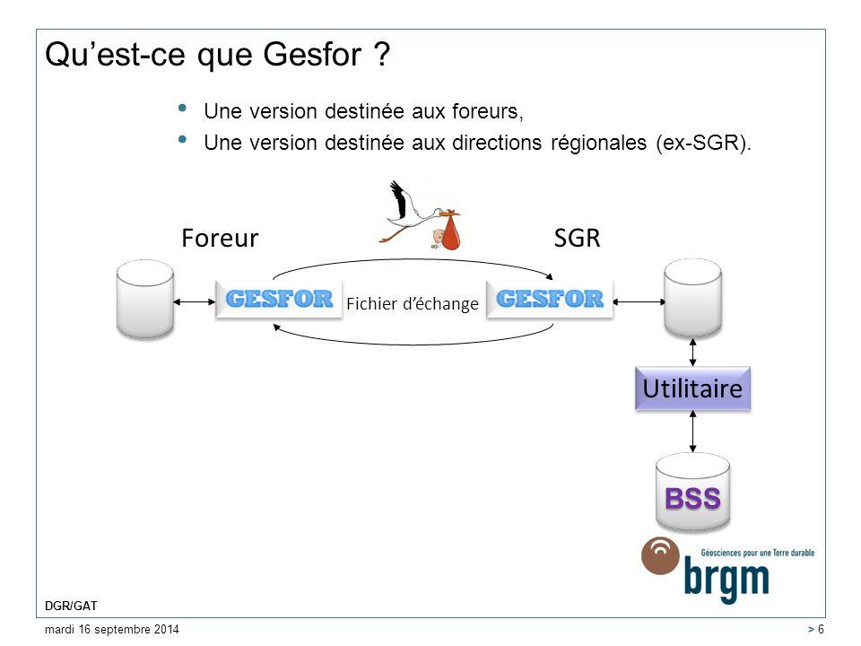 Qu'est-ce que Gesfor Foreur SGR Utilitaire BSS