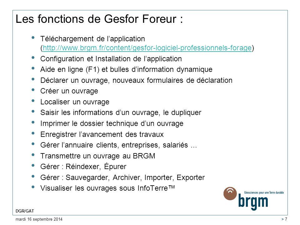 Les fonctions de Gesfor Foreur :