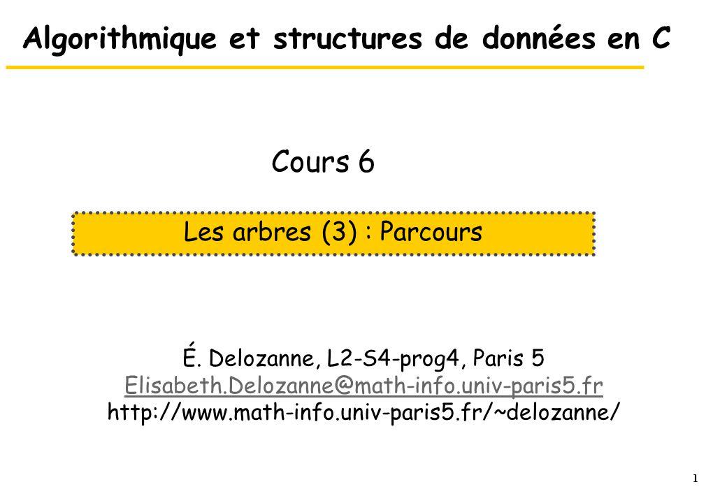 Algorithmique et structures de données en C