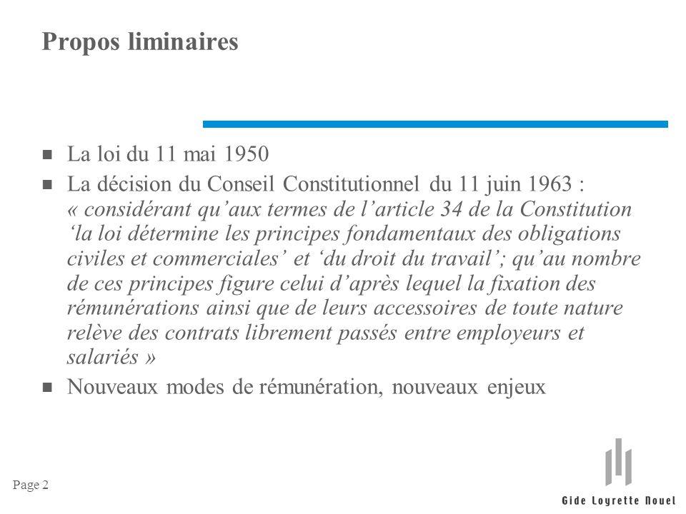Propos liminaires La loi du 11 mai 1950