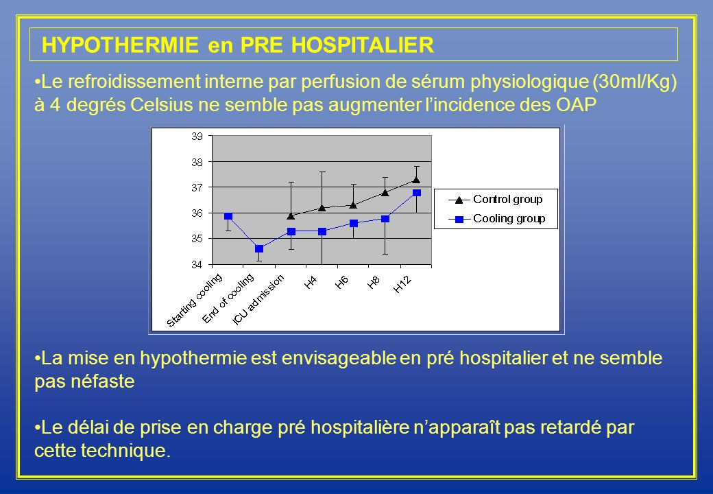 HYPOTHERMIE en PRE HOSPITALIER