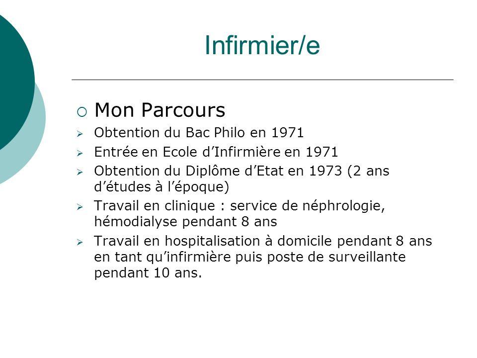Infirmier/e Mon Parcours Obtention du Bac Philo en 1971