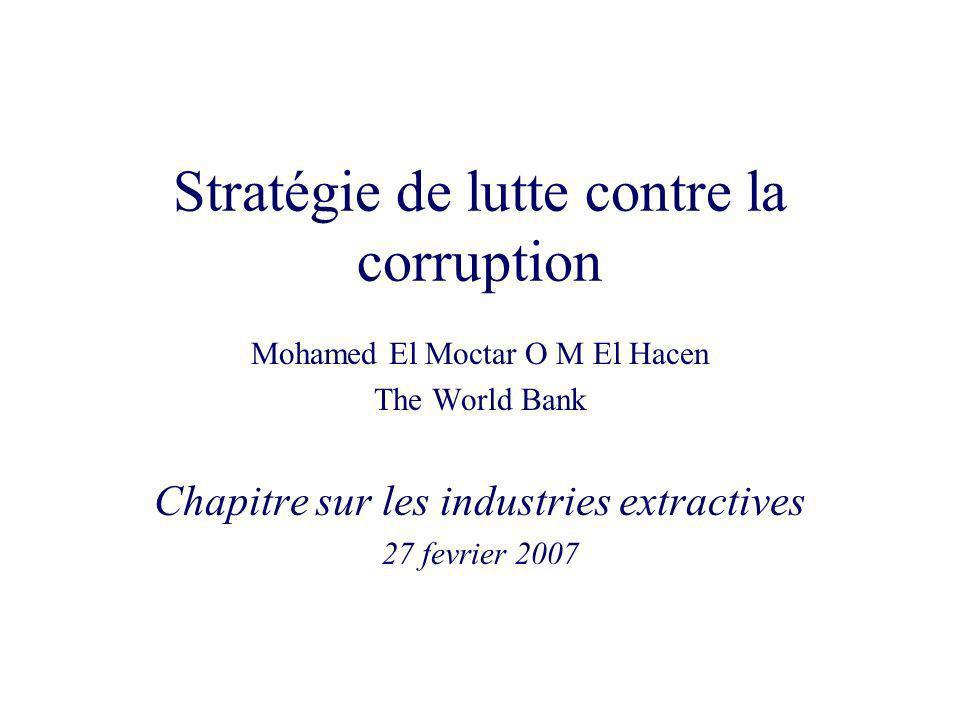 Stratégie de lutte contre la corruption