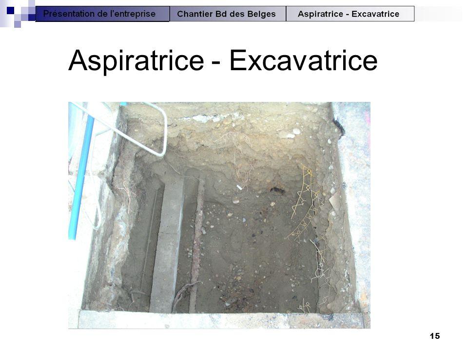 Aspiratrice - Excavatrice