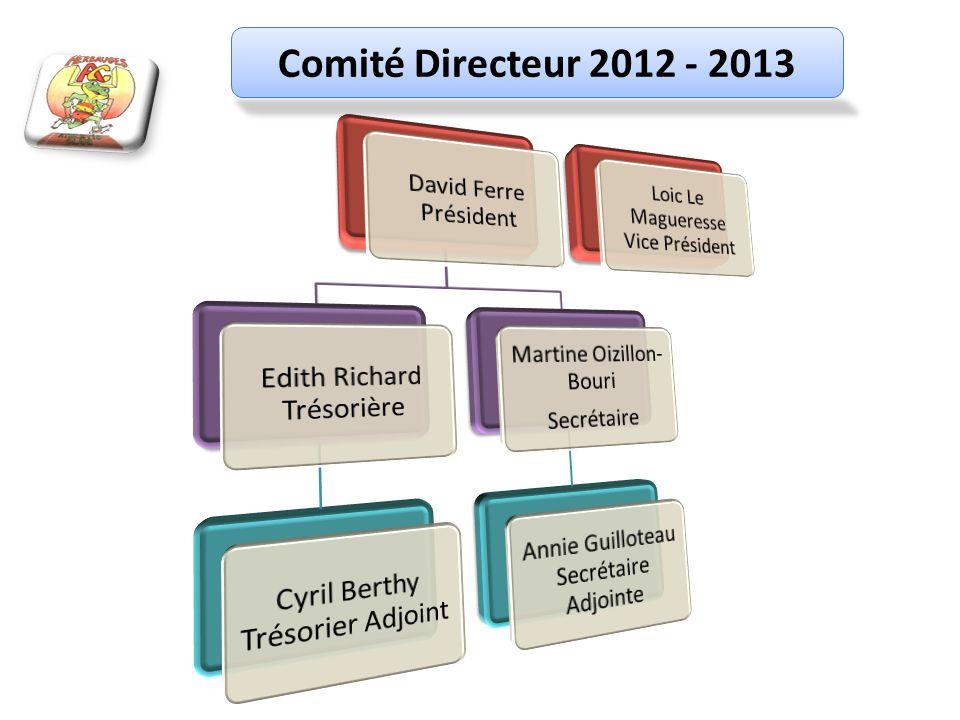 Comité Directeur 2012 - 2013 David Ferre Président