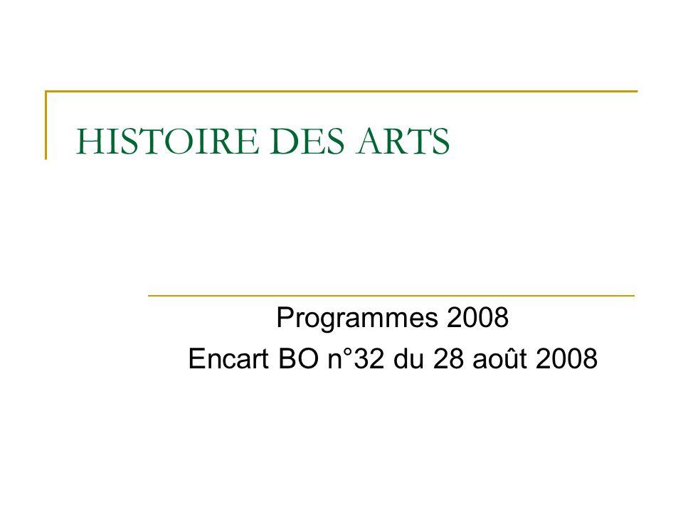 Programmes 2008 Encart BO n°32 du 28 août 2008