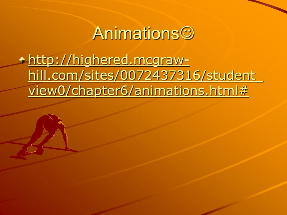 Animations http://highered.mcgraw-hill.com/sites/0072437316/student_view0/chapter6/animations.html#