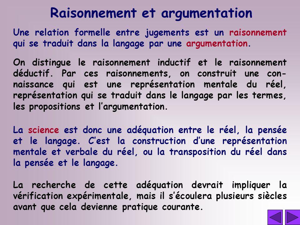 Raisonnement et argumentation