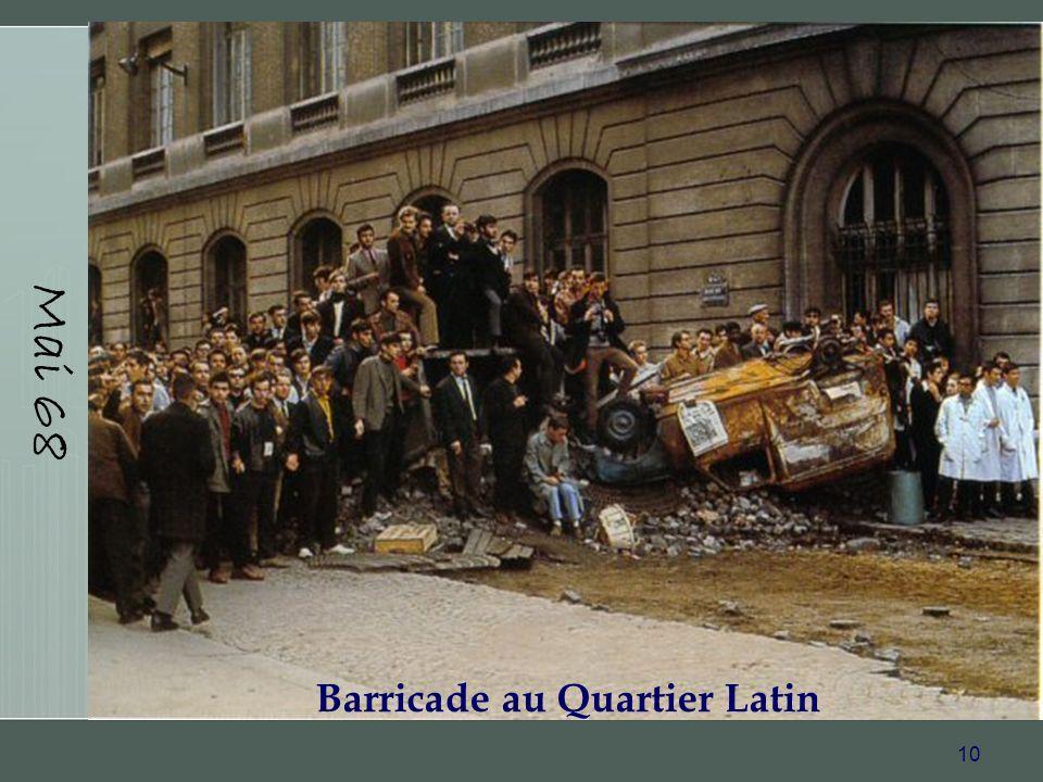 Barricade au Quartier Latin