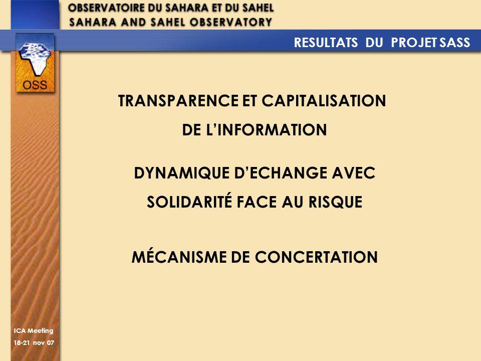 TRANSPARENCE ET CAPITALISATION DE L'INFORMATION