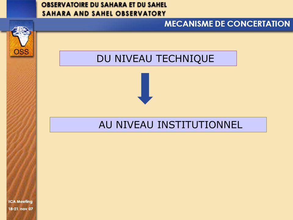 MECANISME DE CONCERTATION