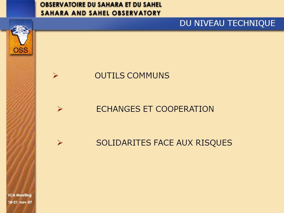 DU NIVEAU TECHNIQUE OUTILS COMMUNS ECHANGES ET COOPERATION SOLIDARITES FACE AUX RISQUES