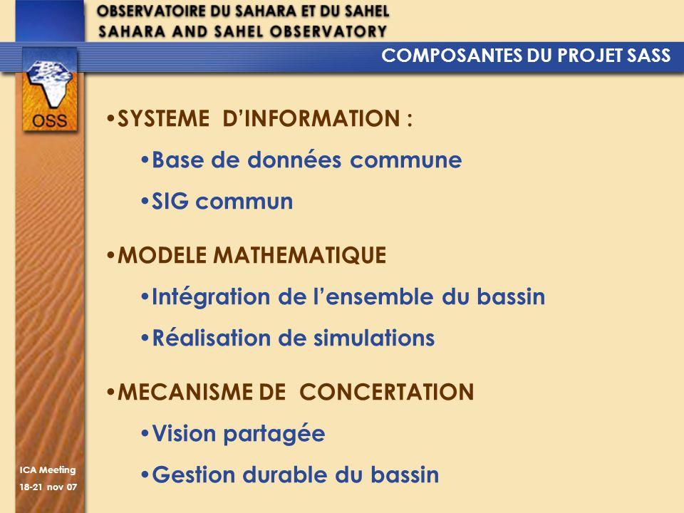SYSTEME D'INFORMATION : Base de données commune SIG commun