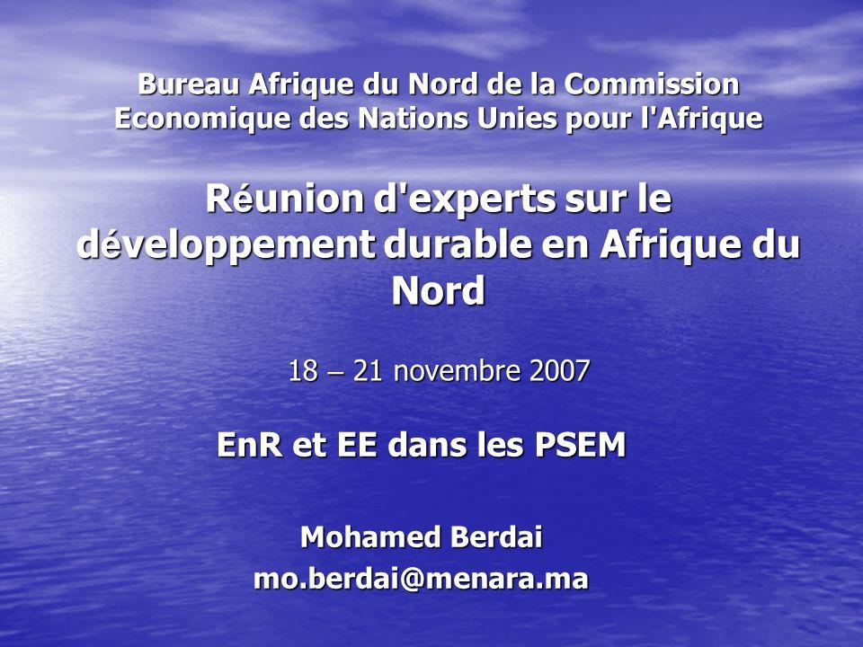 EnR et EE dans les PSEM Mohamed Berdai mo.berdai@menara.ma