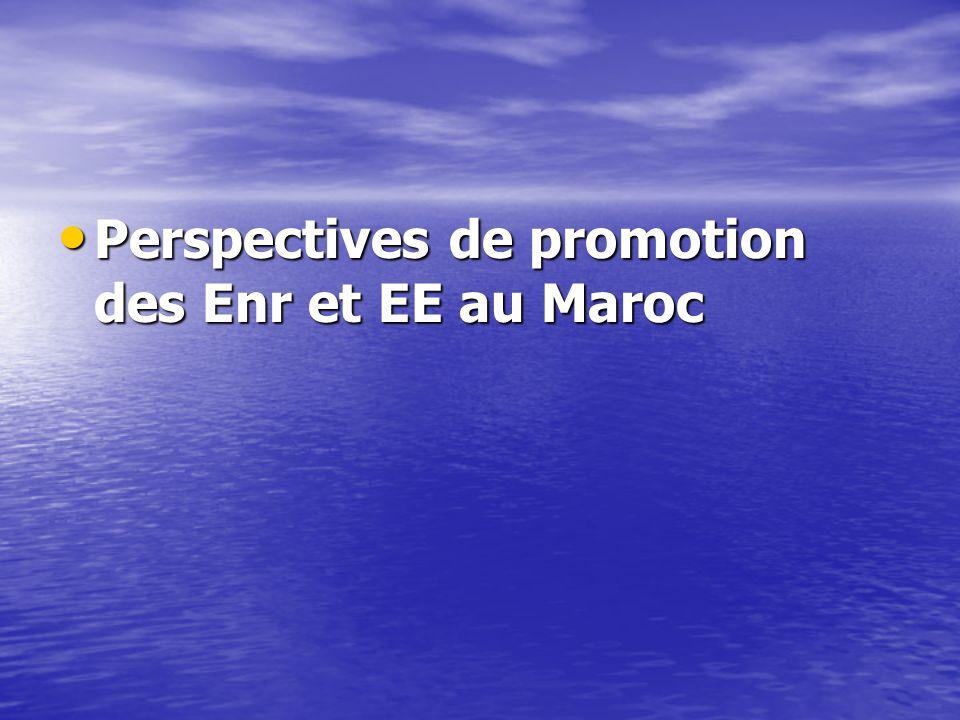 Perspectives de promotion des Enr et EE au Maroc