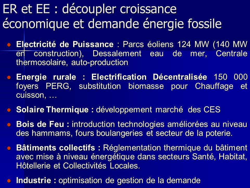 ER et EE : découpler croissance économique et demande énergie fossile