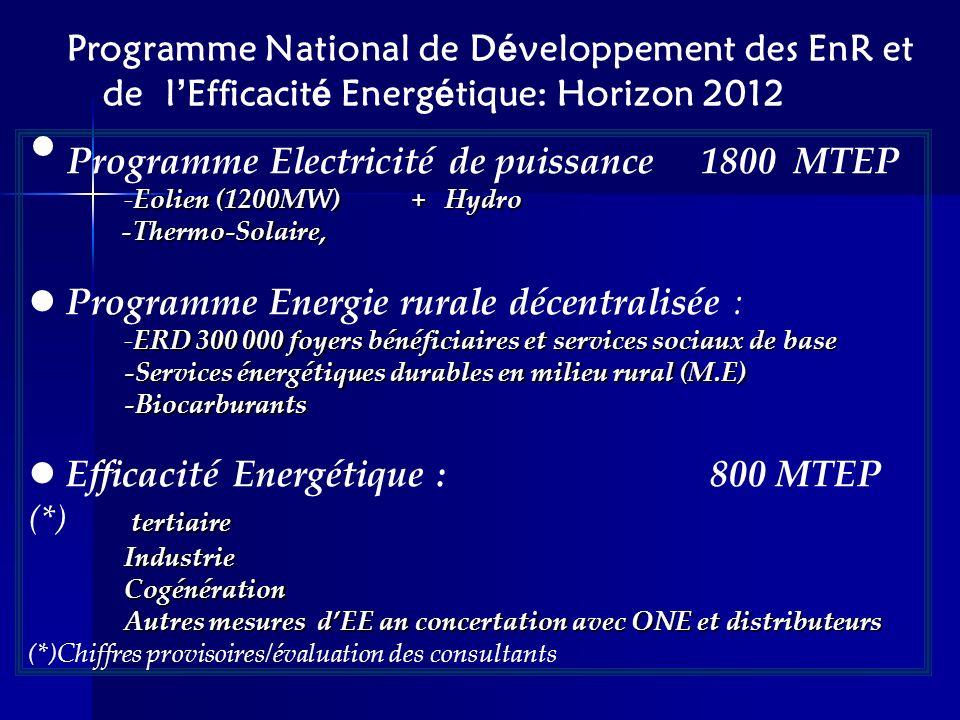 Programme Electricité de puissance 1800 MTEP
