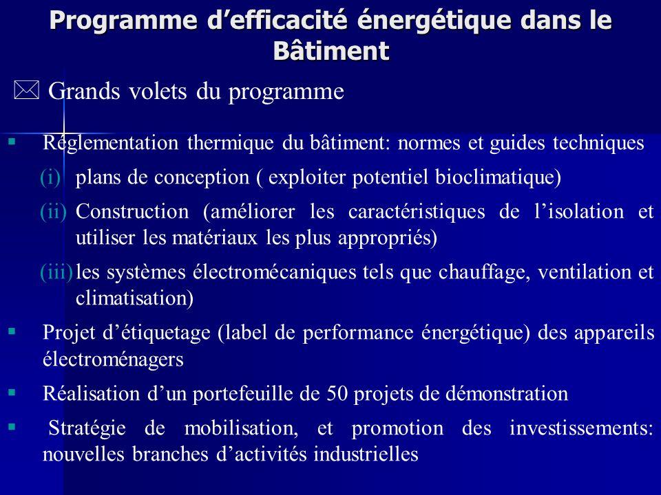 Programme d'efficacité énergétique dans le Bâtiment